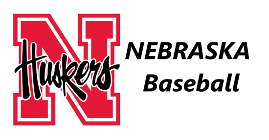 Nebraska Husker logo with the words Nebraska Baseball on the right.